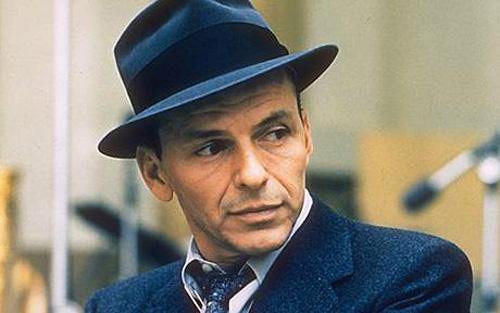 Frank Sinatra wearing a fedora