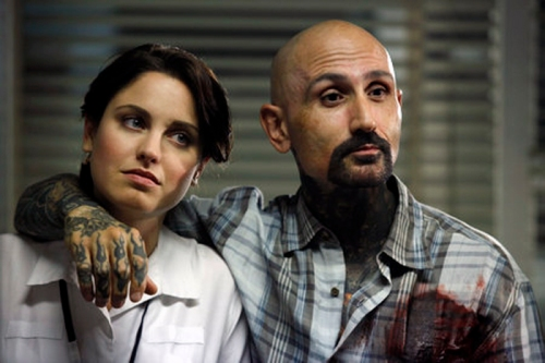 "Christine Donlon and Robert LaSardo in ""Bad Medicine"""