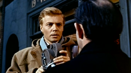 Karlheinz Böhm, as Mark Lewis, in PEEPING TOM
