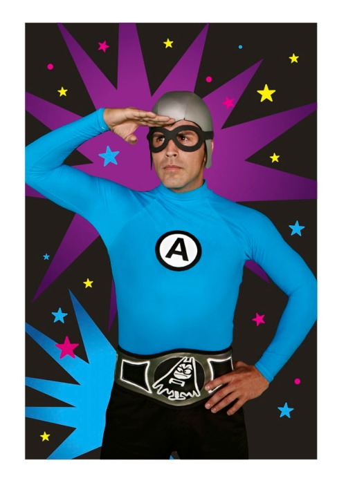 Richard Falomir as Ricky Fitness on THE AQUABATS! SUPER SHOW!