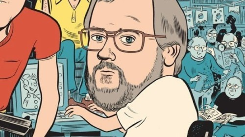 Kim Thompson portrait by Daniel Clowes