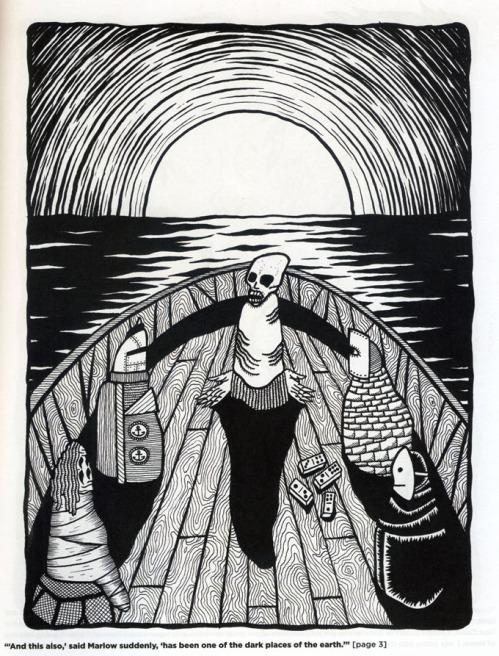 """""""Heart of Darkness"""" illustration by Matt Kish"""