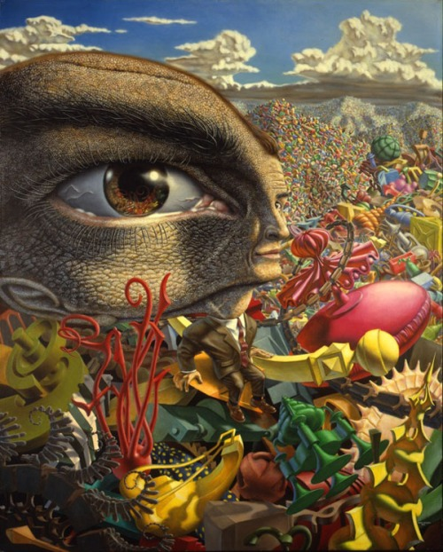"""In the Land of Retinal Delights,"" oil on canvas, 1968, by Robert Williams"
