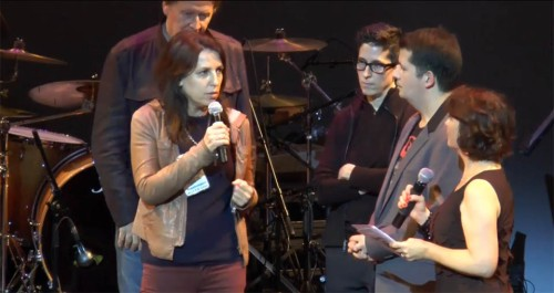 Rutu Modan and Alison Bechdel at the  2014 Angoulême Comics Festival
