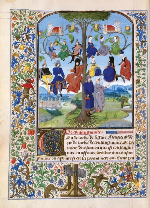 """Tree of Consanguinity,"" 1471, by Loyset Liedet (1420-79)"