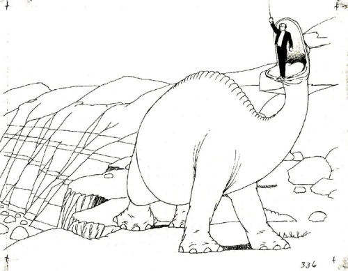 Winsor McCay with Gertie the Dinosaur