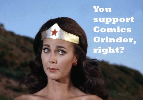 Wonder Woman Supports Comics Grinder. How About You?