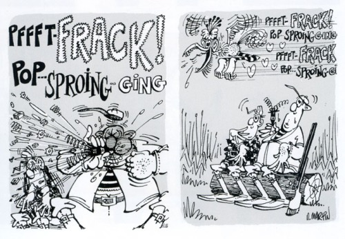 Don Martin, Two panels from a MAD magazine cartoon, June, 1969