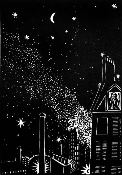 "From ""The City,"" by Frans Masereel (1889-1972), first published in Germany, 1925"