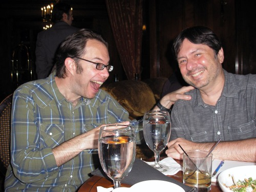 David Lasky and Henry Chamberlain enjoy a hearty laugh at the Sorrento Hotel, 8 November 2014. What was so funny? Perhaps it was Henry's best joke ever!