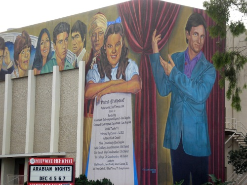 Hollywood High School mural by Eloy Torrez