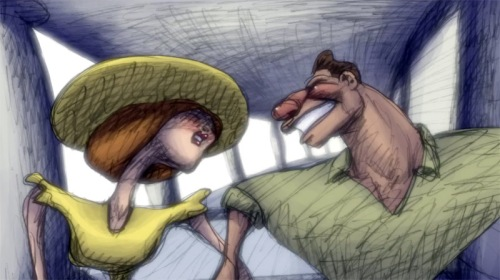 Ella and Jake in Bill Plympton's CHEATIN'