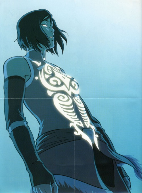 The Legend of Korra collectible poster inside DVD/Blu-ray for Book Four: Balance
