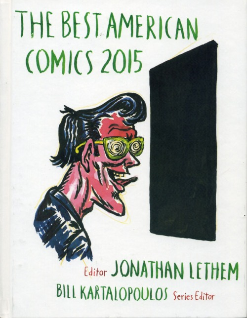 Cover art for Best American Comics 2015 by Raymond Pettibon