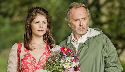 "Gemma Arterton and Fabrice Luchini in ""Gemma Bovery"""
