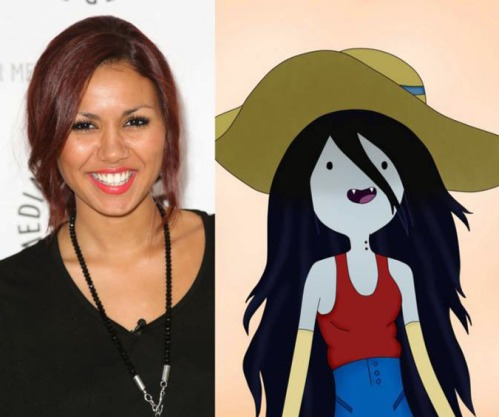 Olivia Olson and Marceline the Vampire Queen