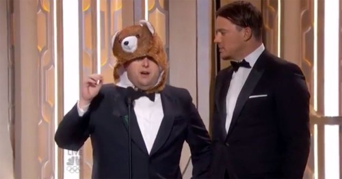 Jonah Hill and the bear hat moment.
