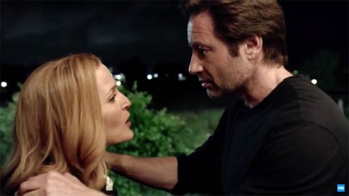 "Dana Scully (Gillian Anderson) and Fox Mulder (David Duchovny) are back on ""The X-Files!"""
