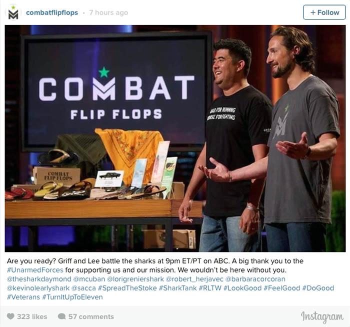 51e9b79b126c Congrats to Combat Flip Flops on  Shark Tank   Interview With CEO Matthew  Griffin