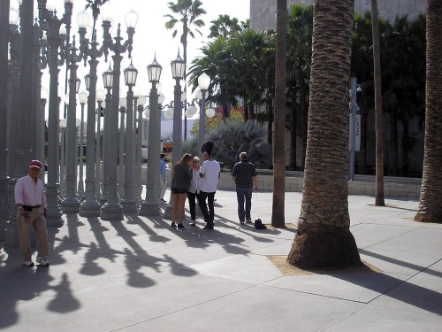 "Chris Burden's ""Urban Light,"" at LACMA"