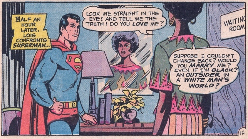 "Superman and Lois Lane in ""I Am Curious (Black)!"""