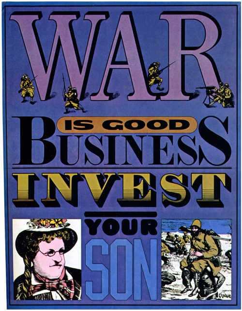 Anti-war poster by Chwast, 1968