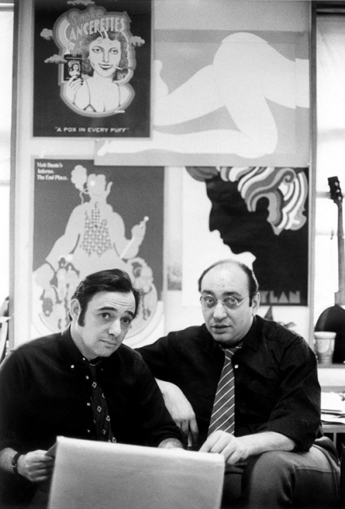 Seymour Chwast and Milton Glaser at Push Pin Studios, 1968