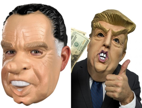 Nixon and Trump masks from PureCostumes.com