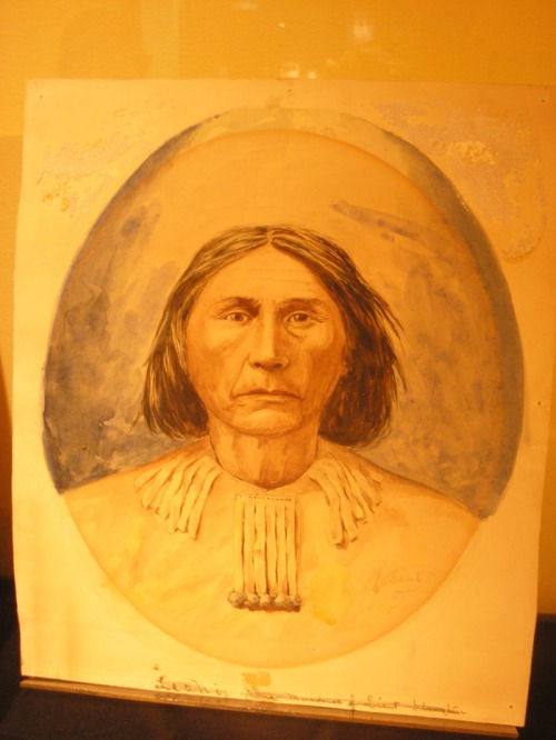 Watercolor painting of Chief Leschi