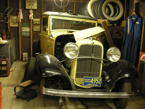 """Lucky's Garage,"" a tribute to Harold E. LeMay"