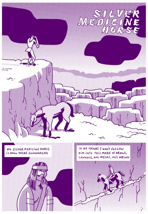 """From Steven Weissman's """"Silver Medicine Horse"""""""