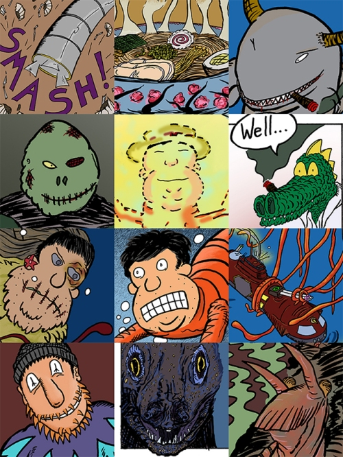 Strange creatures, besieged heroes, undersea adventures, ramen noodle soup, and TENTACLES!!