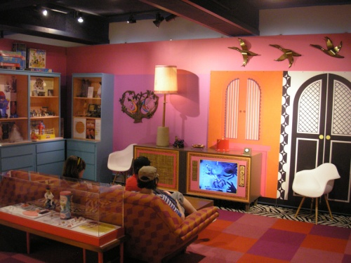 1960s Living Room Re-creation at MOHAI Toys exhibit