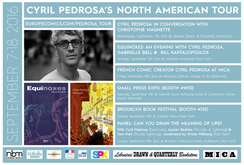 U.S. Book Tour for Cyril Pedrosa