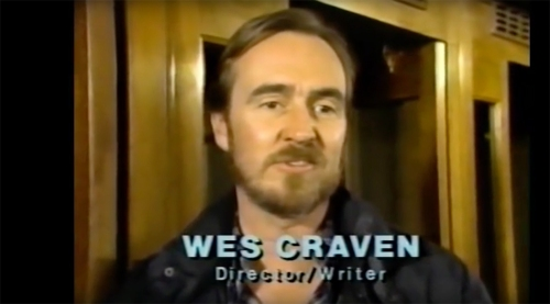 "Director/Writer Wes Craven, from ""Fangoria's Weekend of Horrors"" (1986)"