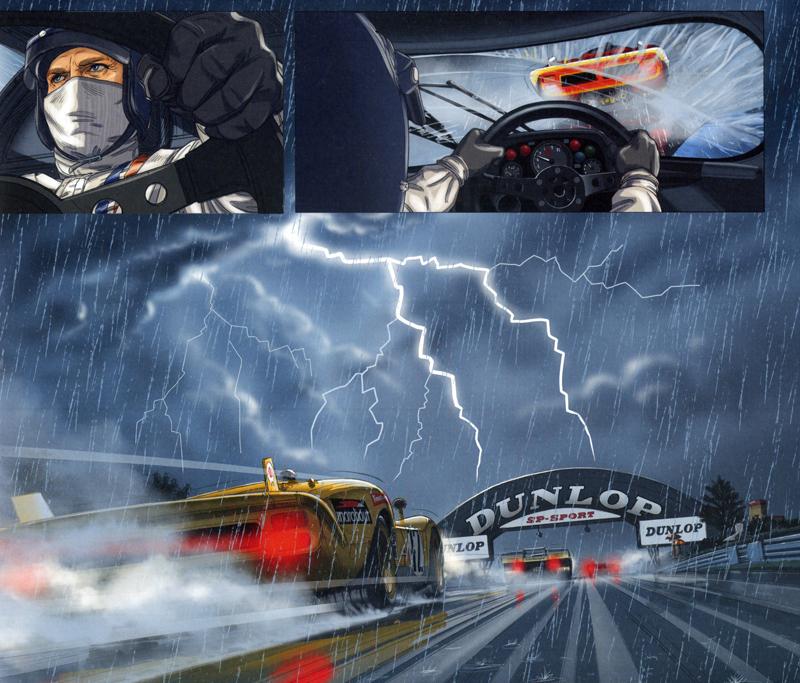 1a90c2d1b1c3 Graphic Novel Review   Steve McQueen in Le Mans